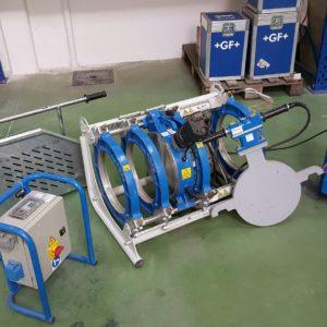 machine à souder les tubes plastiques bout à bout +GF+ Gerg Fischer KL315 jusque Ø315